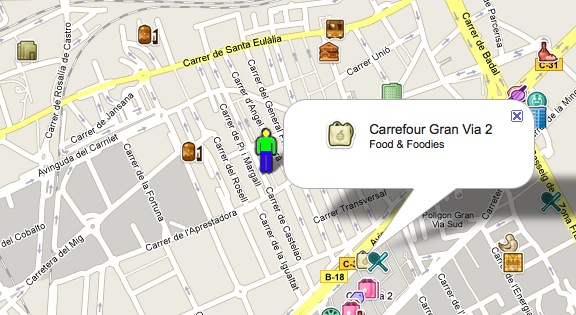 Check-ins de Foursquare en Santa Eulalia, L'Hospitalet