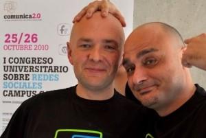Nacho Campos y Carlos Guadián en Comunica 2.0 - Gandía