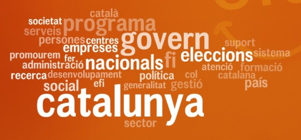 Nube de etiquetas del programa electoral de CiU