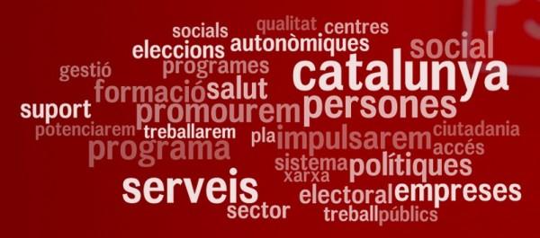 Nube de etiquetas del programa electoral del PSC