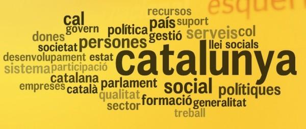 Nube de etiquetas del programa electoral de ERC