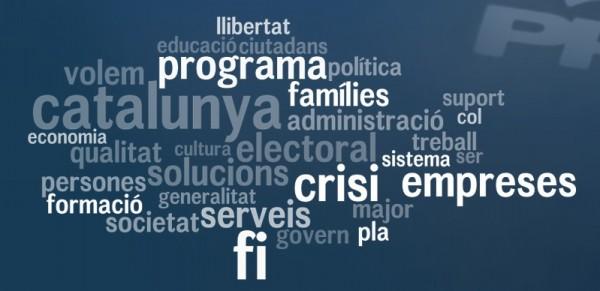 Nube de etiquetas del programa electoral del PP