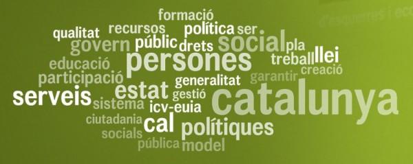 Nube de etiquetas del programa electoral de ICV