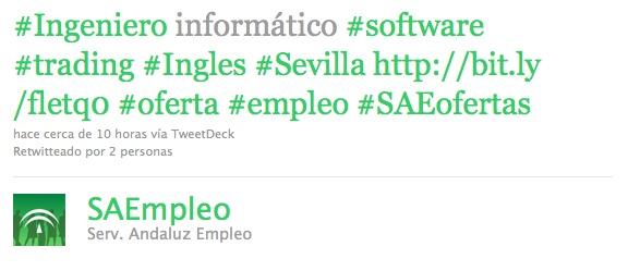 Twitter Servicio Andaluz de Empleo