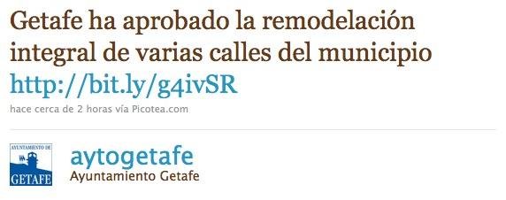 Twitter ayuntamiento Getafe