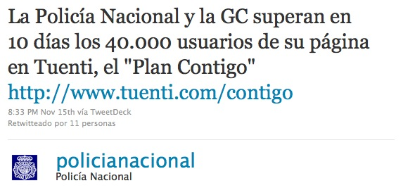 Twitter Policia Nacional