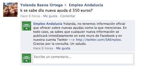Atención al ciudadano por la Consejería de Empleo de Andalucía