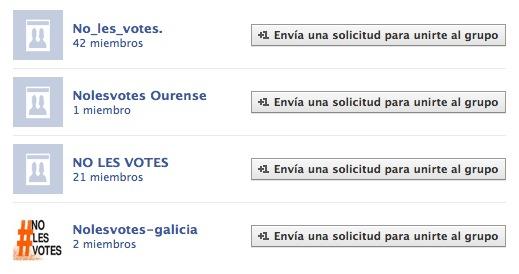 Grupos en FB #nolesvotes