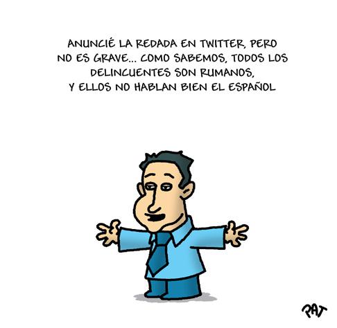 Xavier García Albiol anuncia redada por twitter - vía Los Calvitos