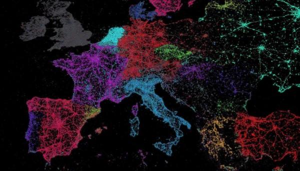 Lenguas usadas en Europa sobre Twitter