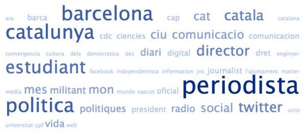 Nube de tags de las biografías de los amigos de @CiUDuran2011 en Twitter