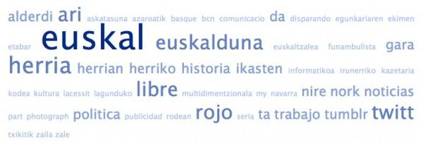 Nube de tags de las bios de los amigos de @AmaiurInfo