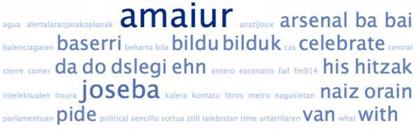 Nube de tags de los estatus de los amigos de @AmaiurInfo