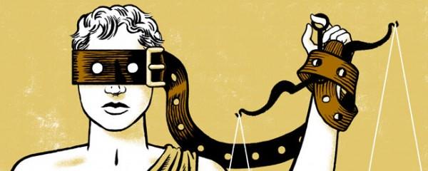 "La justicia vendada con una ""correa"""