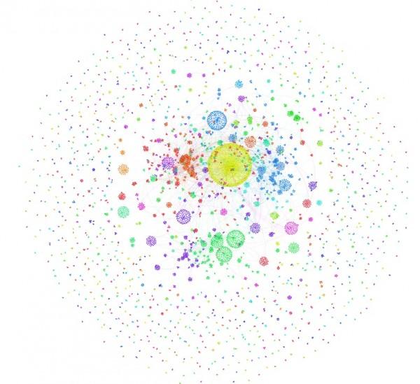 Mapa de los RT del hashtag #1demayo