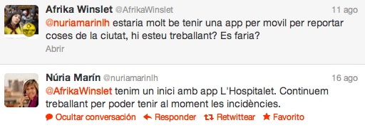 Conversación app hospitalet