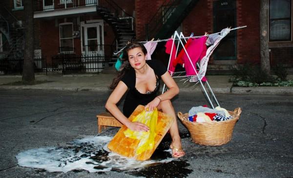 washing pothole