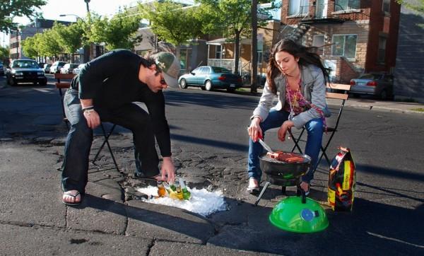 BBQ pothole